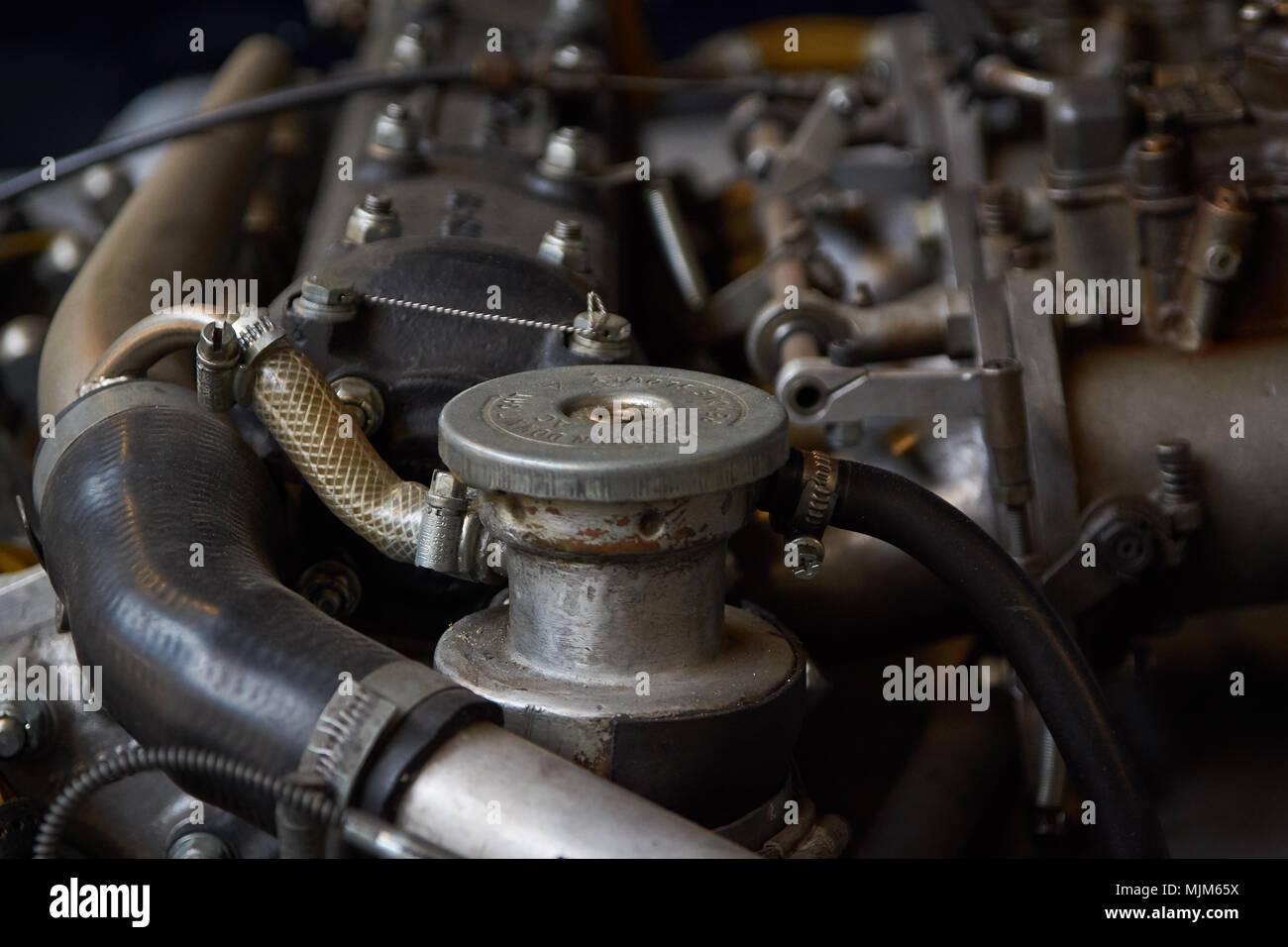 Vintage Motor zusammenbauen Stockbild