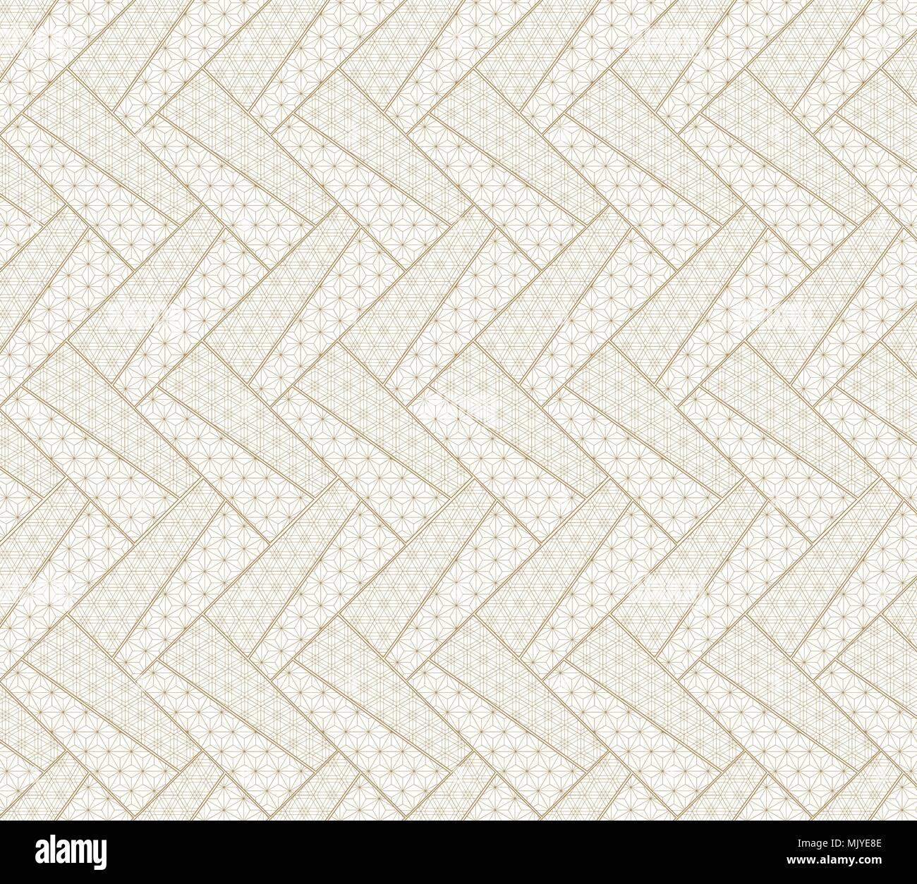 Japanische Muster Vektor Gold Geometrischen Hintergrund Für Die