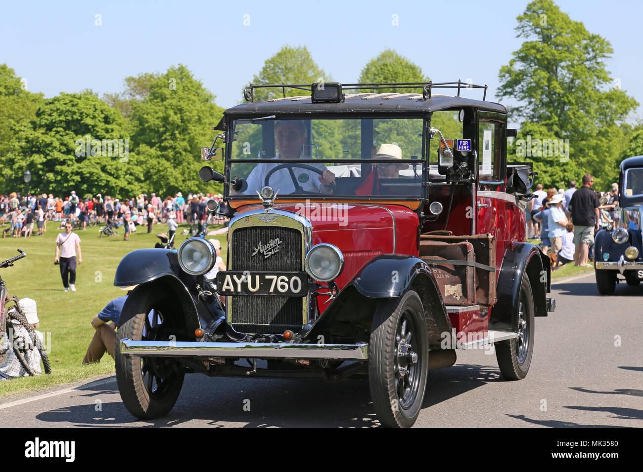 1934 austin sechs tieflader taxi chestnut sonntag 6 mai 2018 bushy park