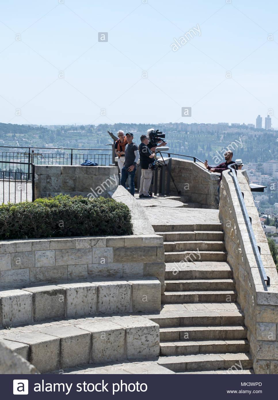 Reportage Israel in Jerusalem. Stockbild
