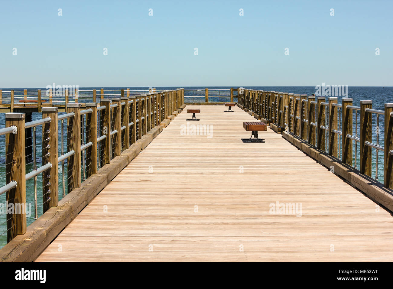 Pier in Oak Bluffs, Martha's Vineyard Stockbild