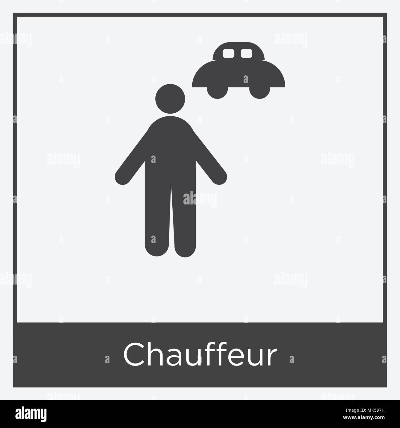 Chauffeur Icon Vector Vectors Stockfotos Und Bilder Kaufen Alamy