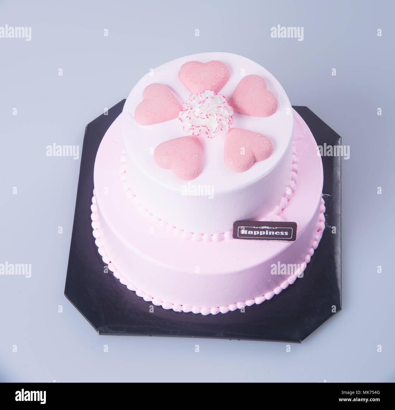 Kuchen Oder Muttertag Kuchen Auf Einem Hintergrund Stockfoto Bild