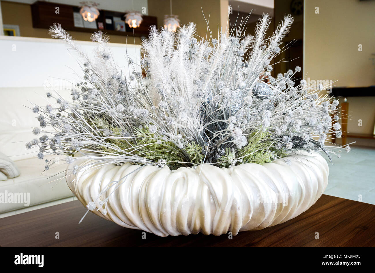 Blumen Weiss Tischdekoration In Der Hotel Lobby Rezeption Zimmer