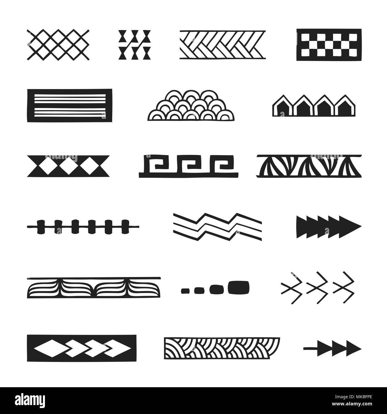vector schwarz schwarz wei hand nativen polynesischen. Black Bedroom Furniture Sets. Home Design Ideas