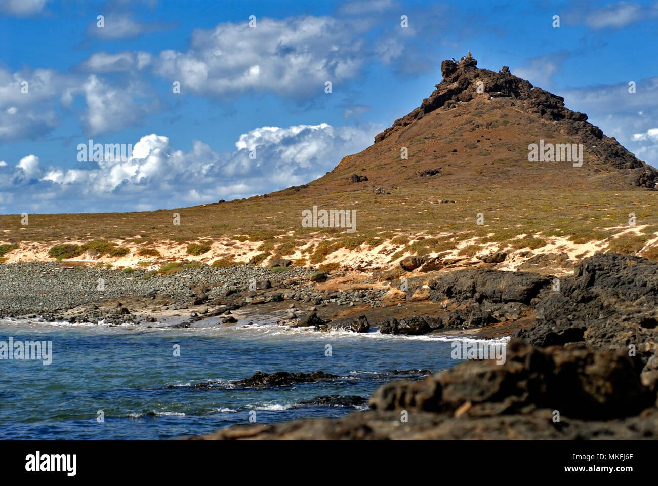 Selvagem Grande Pequeña (Pitón). Naturschutzgebiet, Savage Islands oder Selvagens Islands (Portugiesisch: Ilhas Selvagens). Madeira, Portugal Inseln. Makaronesien. Stockbild