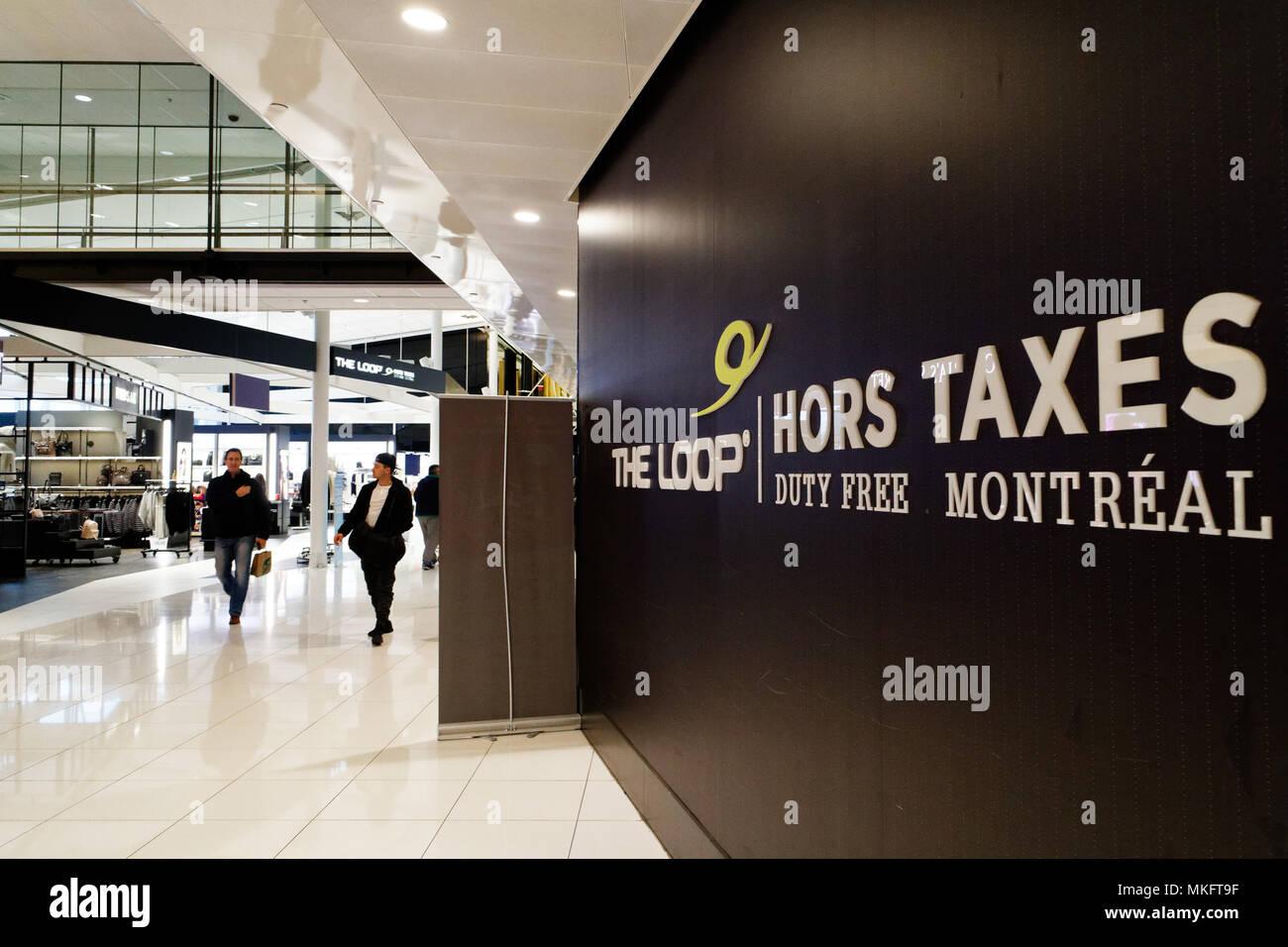 """""""Einkaufsviertel der Loop"""" in Montreal Trudeau Flughafen Stockbild"""