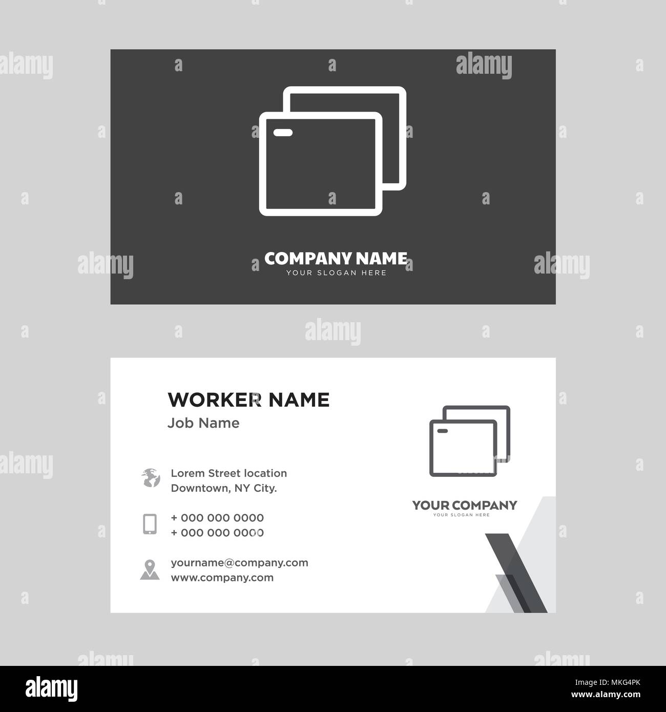 Registerkarte Visitenkarte Design Vorlage Für Ihr