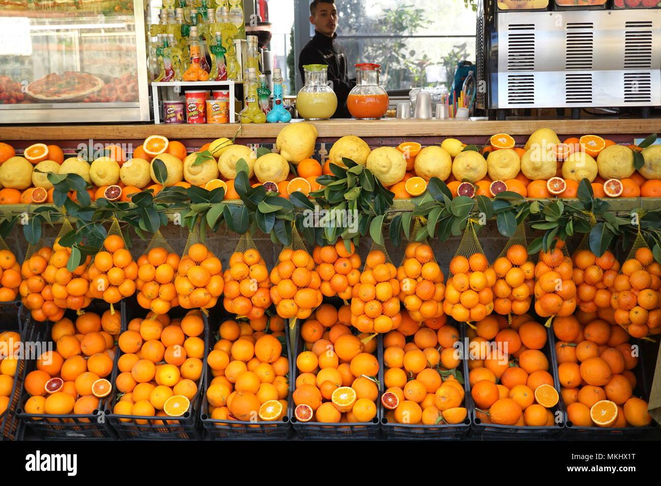 Zitrusfrüchte, Amalfiküste Spezialitäten Stockbild