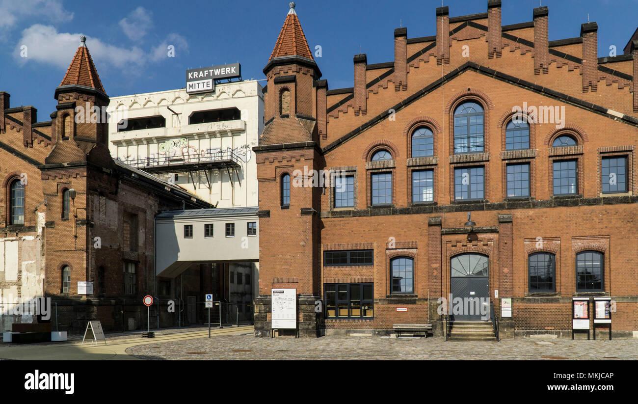 Das historische Kraftwerk Mitte, Dresden, Historisches Kraftwerk Mitte Stockbild