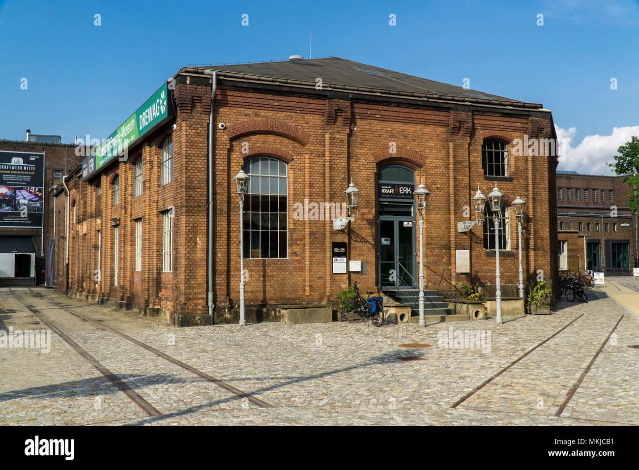 Urban Energy Power Plant Center, Museum, Dresden, städtische Energiemuseum KraftWerk Mitte, Stockbild