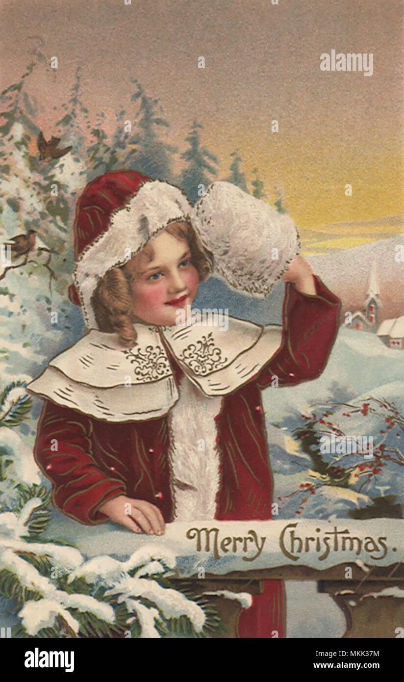 Cards Christmas Girl Stockfotos & Cards Christmas Girl Bilder - Alamy