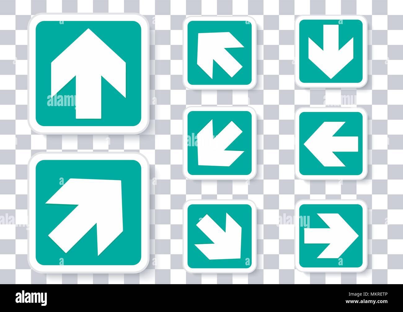 Vektor Design der Pfeil rotation Pack Stockbild