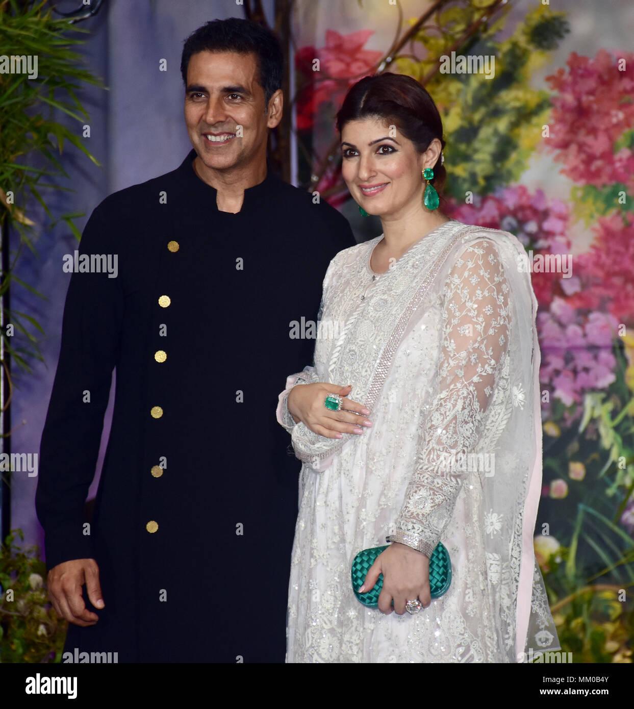 Indische Film Schauspieler Akshay Kumar Mit Frau Twinkle