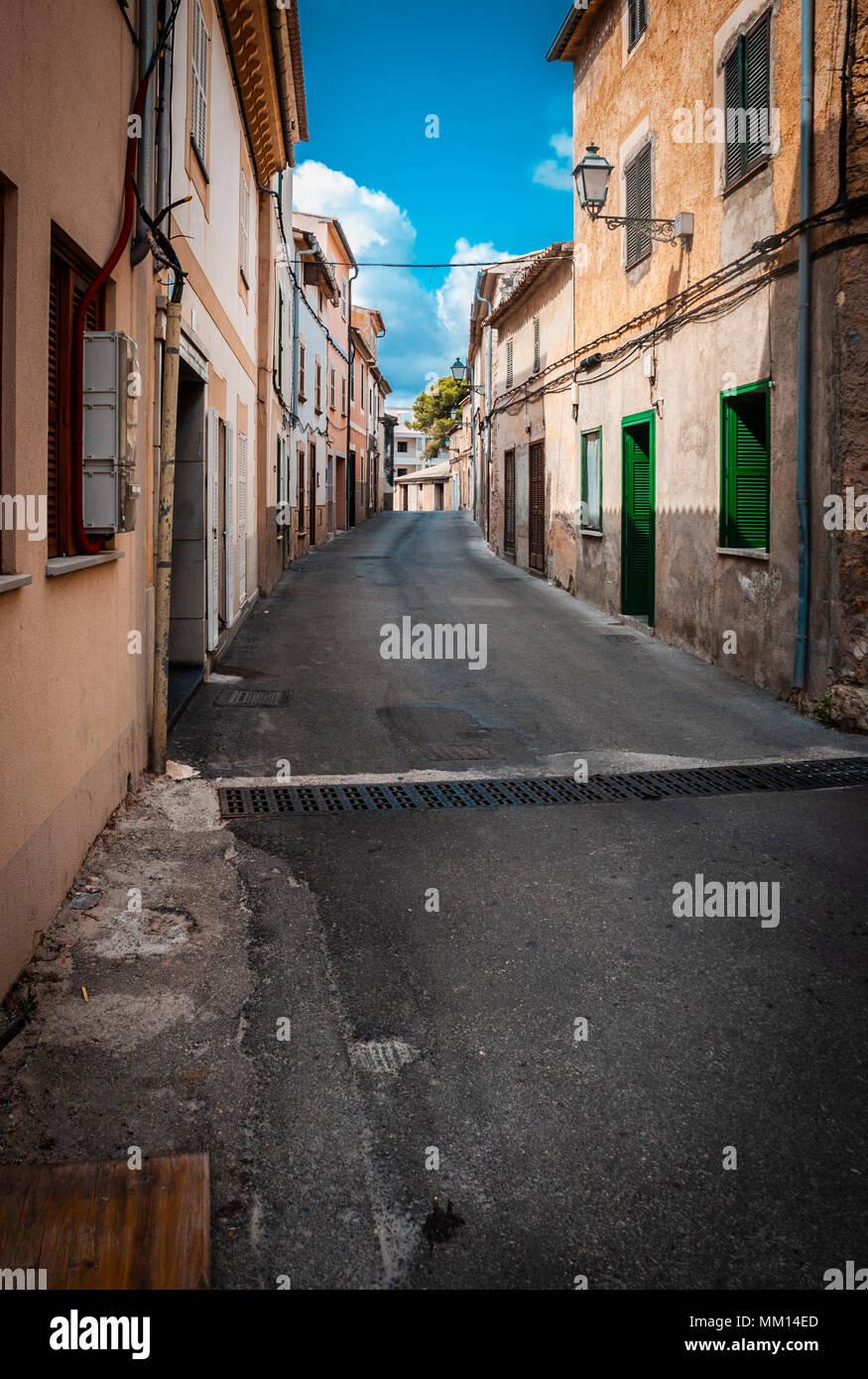 Capdepera, Mallorca Alley (Tageslicht niemand) Stockbild
