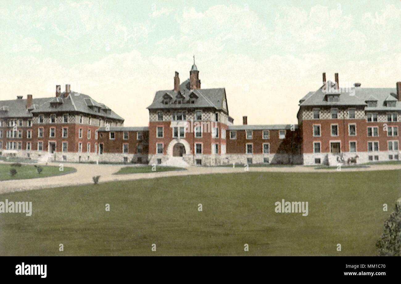 Verrückt Krankenhaus. Bangor. 1910 Stockbild