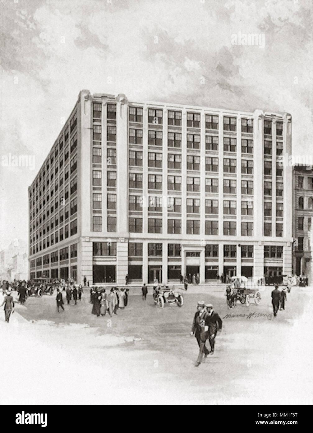 Graphic Arts Gebäude. Worcester. 1910 Stockbild