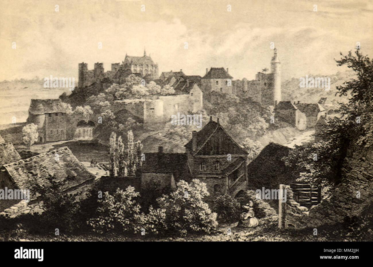 Archambault in Bourbon. 1620 Stockbild