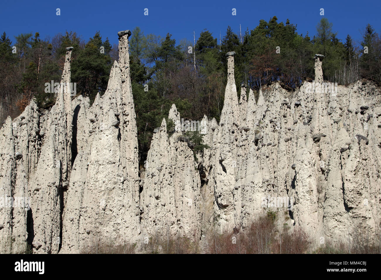 Erdpyramiden Gasteinergraben Unterinn Ritten Südtirol Alto Adige Italien Europa Stockfoto