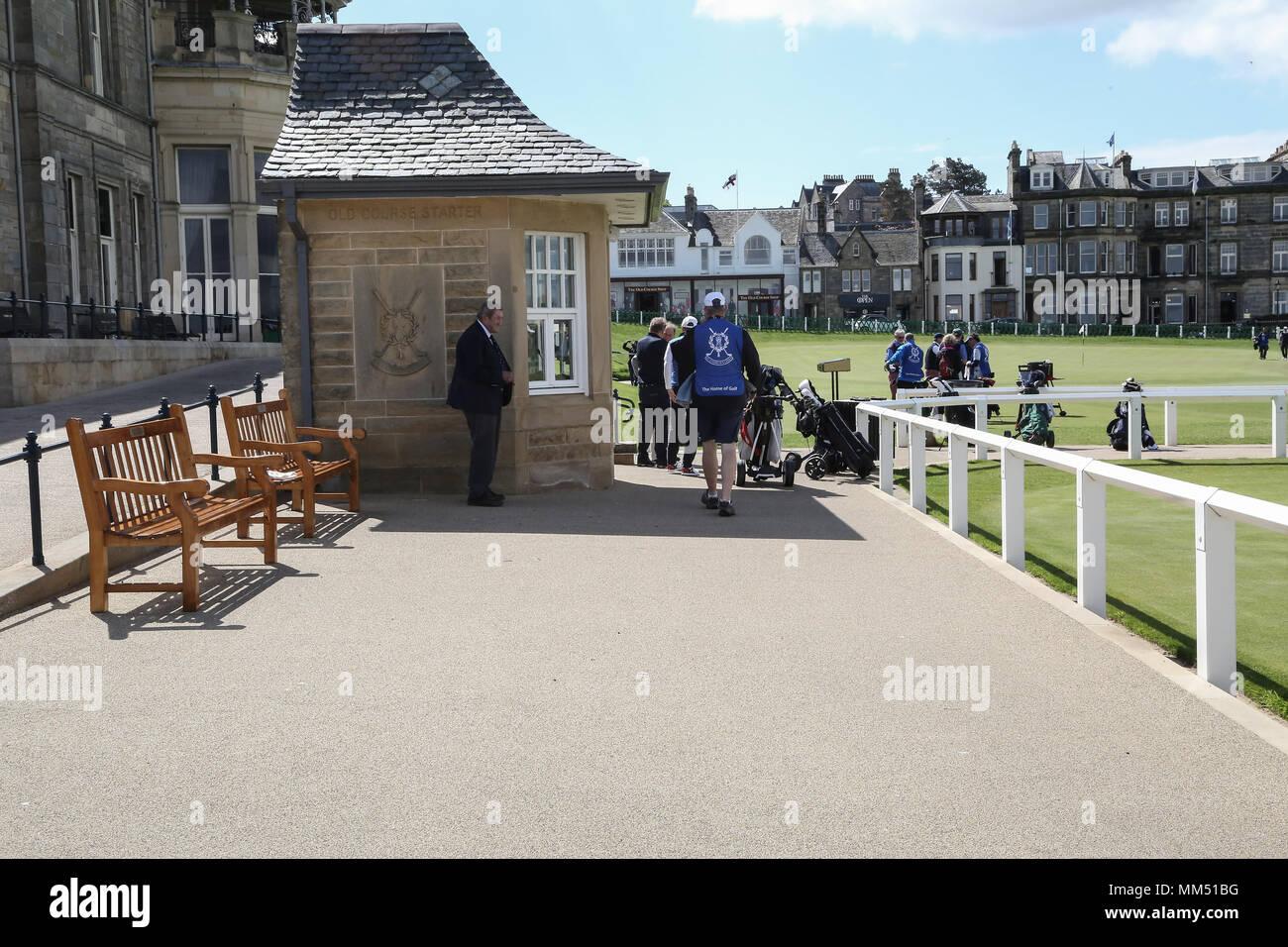 St. Andrews, Fife, Schottland. Wie die Auld Grey Toon und das Haus des Golfs bekannt. Die R und A gibt es zusammen mit den berühmten Old Course. Stockbild
