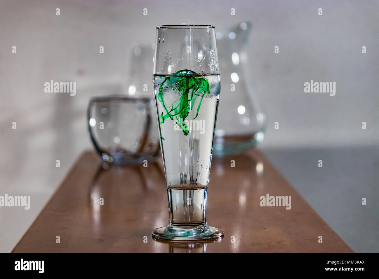 Food Coloring In Water Glass Stockfotos & Food Coloring In Water ...