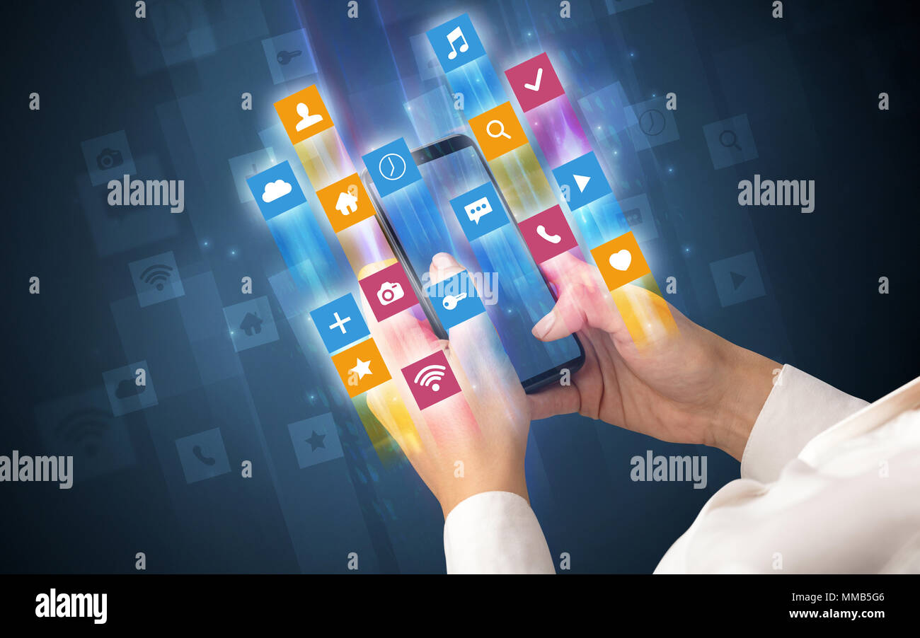 3d Smart Phone Apps Icons Stockfotos & 3d Smart Phone Apps Icons ...