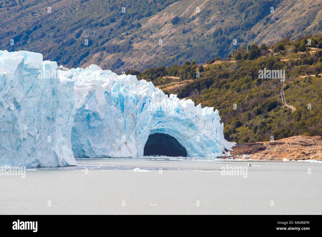 Perito Moreno Gletscher ice Brücke, Patagonien, Argentinien Stockbild