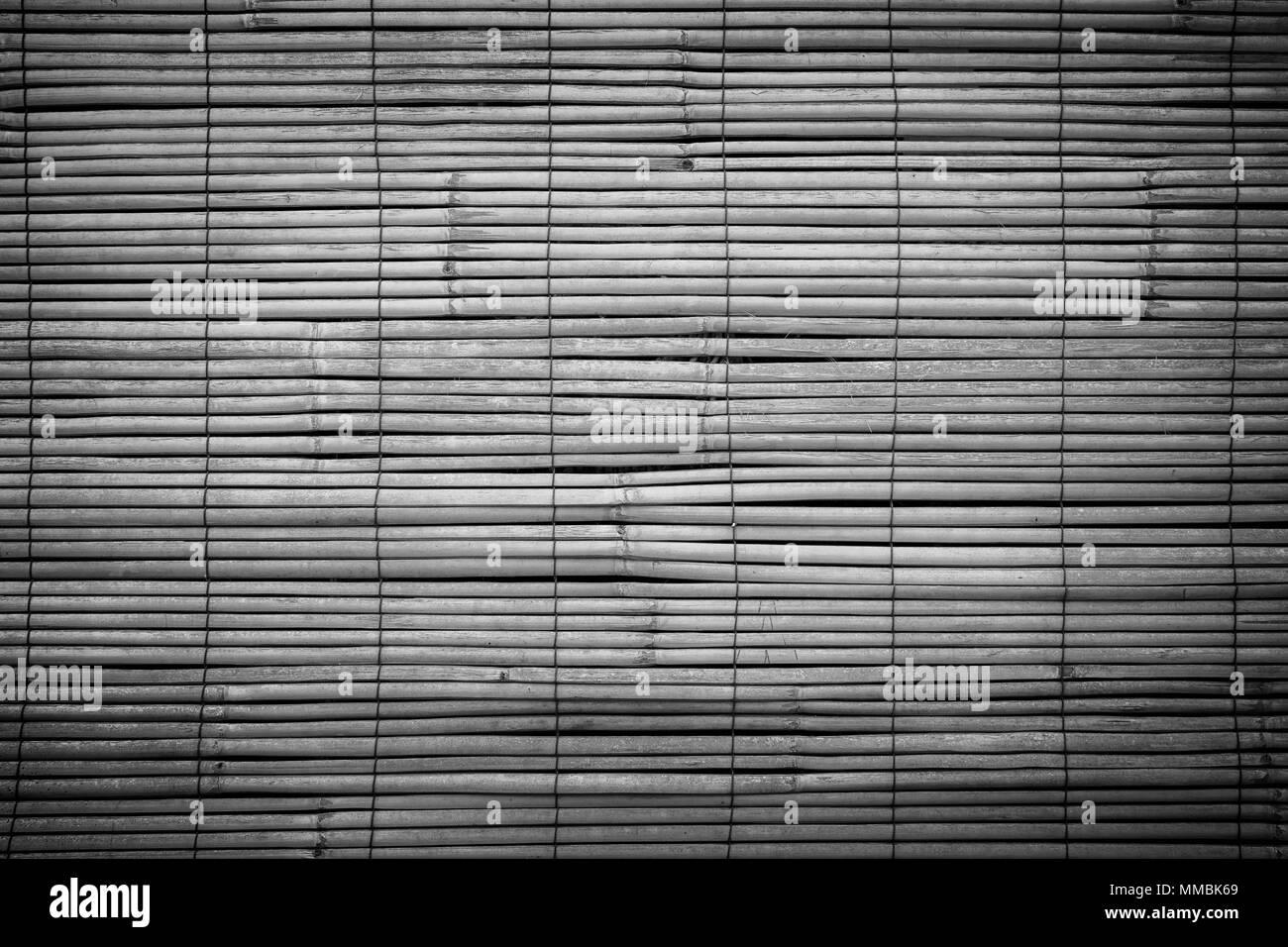 Full Frame Hintergrund Des Gealterten Holz Bambus Jalousien In