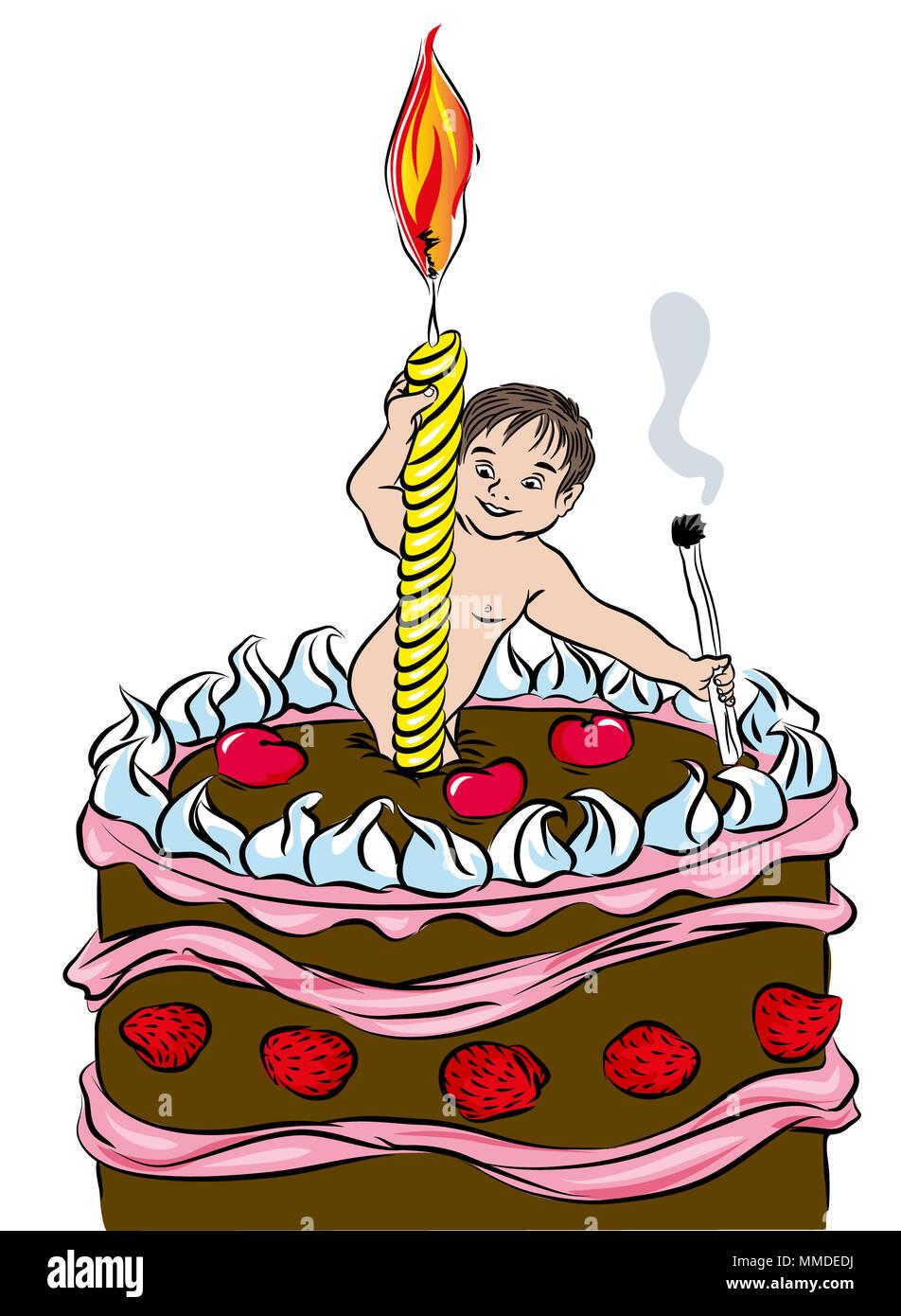 Der Erste Geburtstag Kuchen Glucklicher Erster Geburtstagskuchen