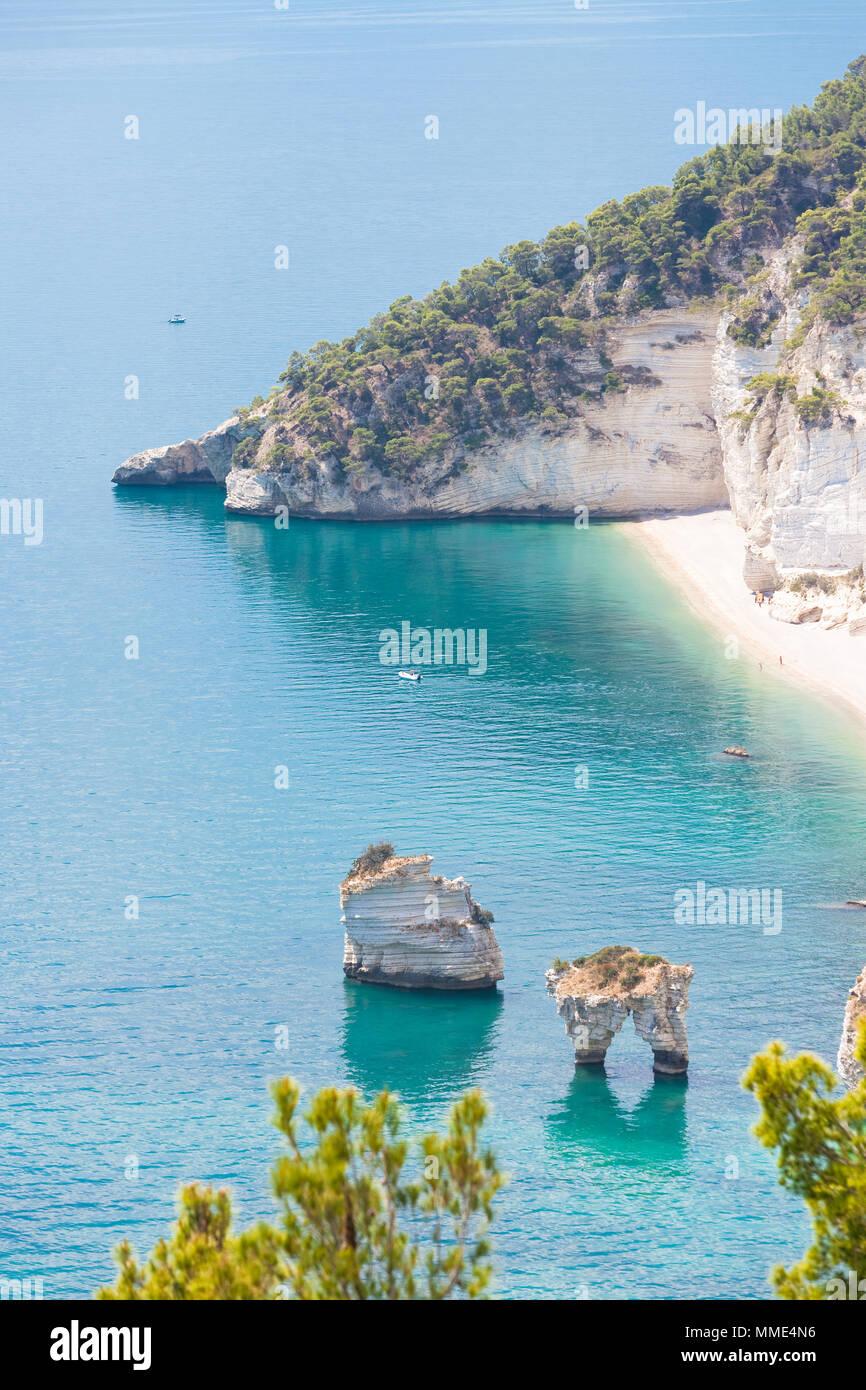 Grotta Smeralda, Apulien, Italien - Foto Shooting auf der verträumt-Grotte von Smeralda Stockfoto