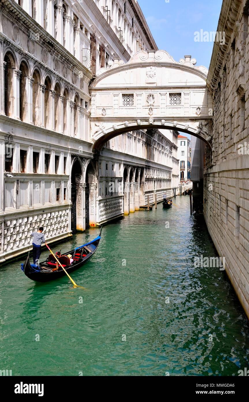 Seufzerbrücke Venedig Italien Stockbild