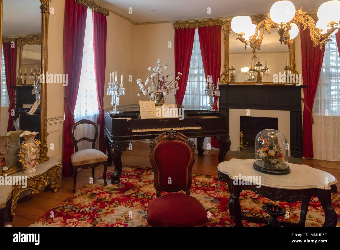 Montgomery, Alabama - Die ersten Weißen Haus der Konföderierten. Jefferson Davis, Präsident der Konföderierten Staaten, lebte hier bis die Konföderierten Stockfoto