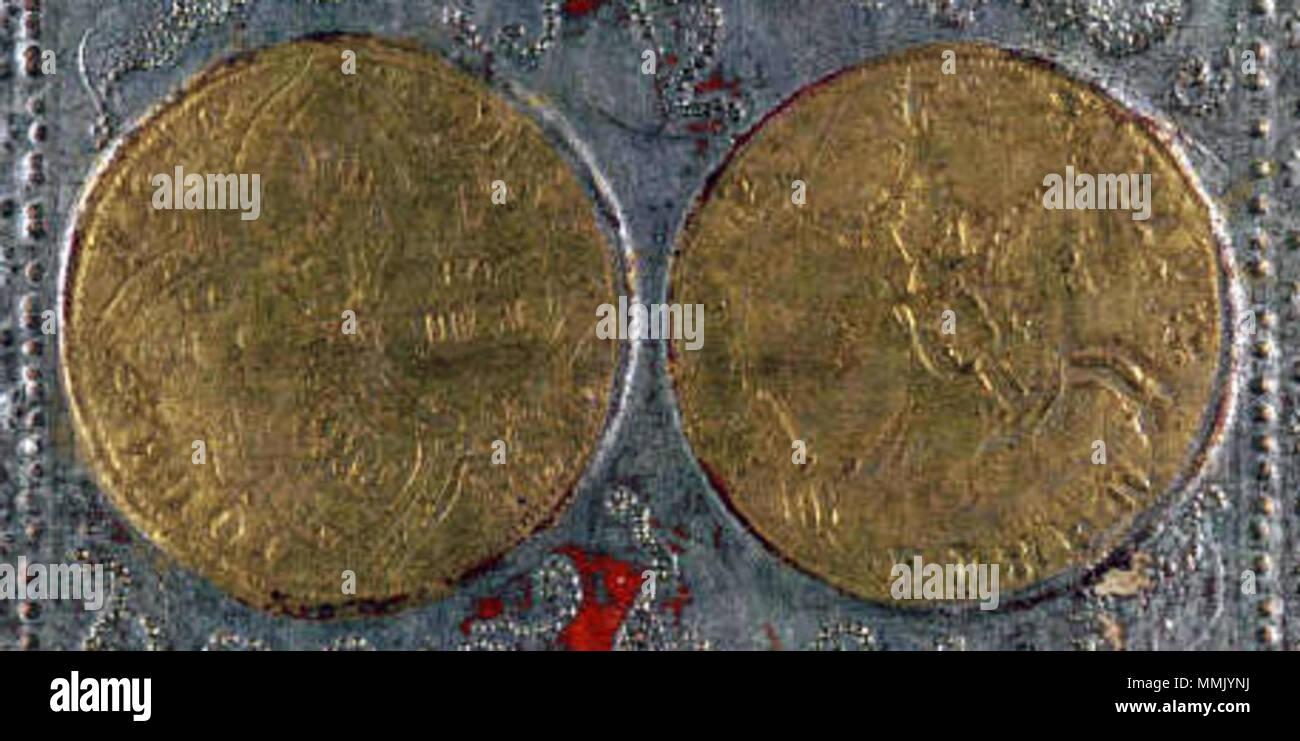 Englisch Detail Aus Vier Der Münzen Karte Aus Dem Cary Yale