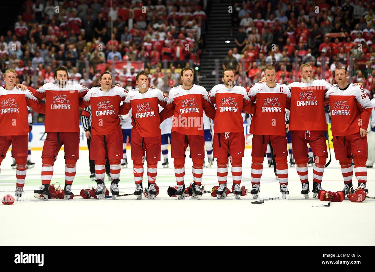Memorabilia Fahne Banner 2018 Ice Hockey World Championship Denmark Kopenhagen Herning # 17