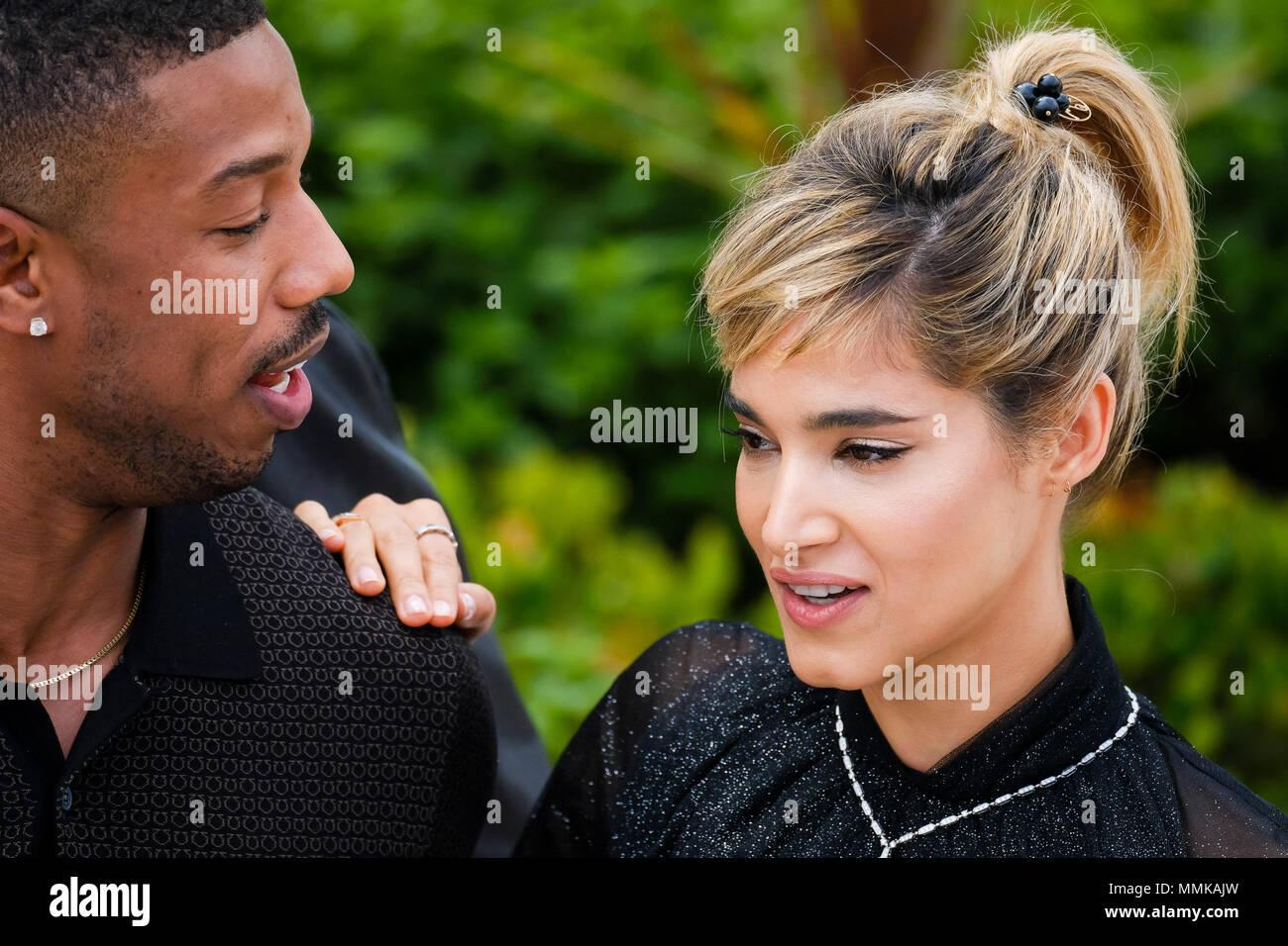 Cannes, Frankreich. 12. Mai 2018. Michael B Jordan und Sofia ...