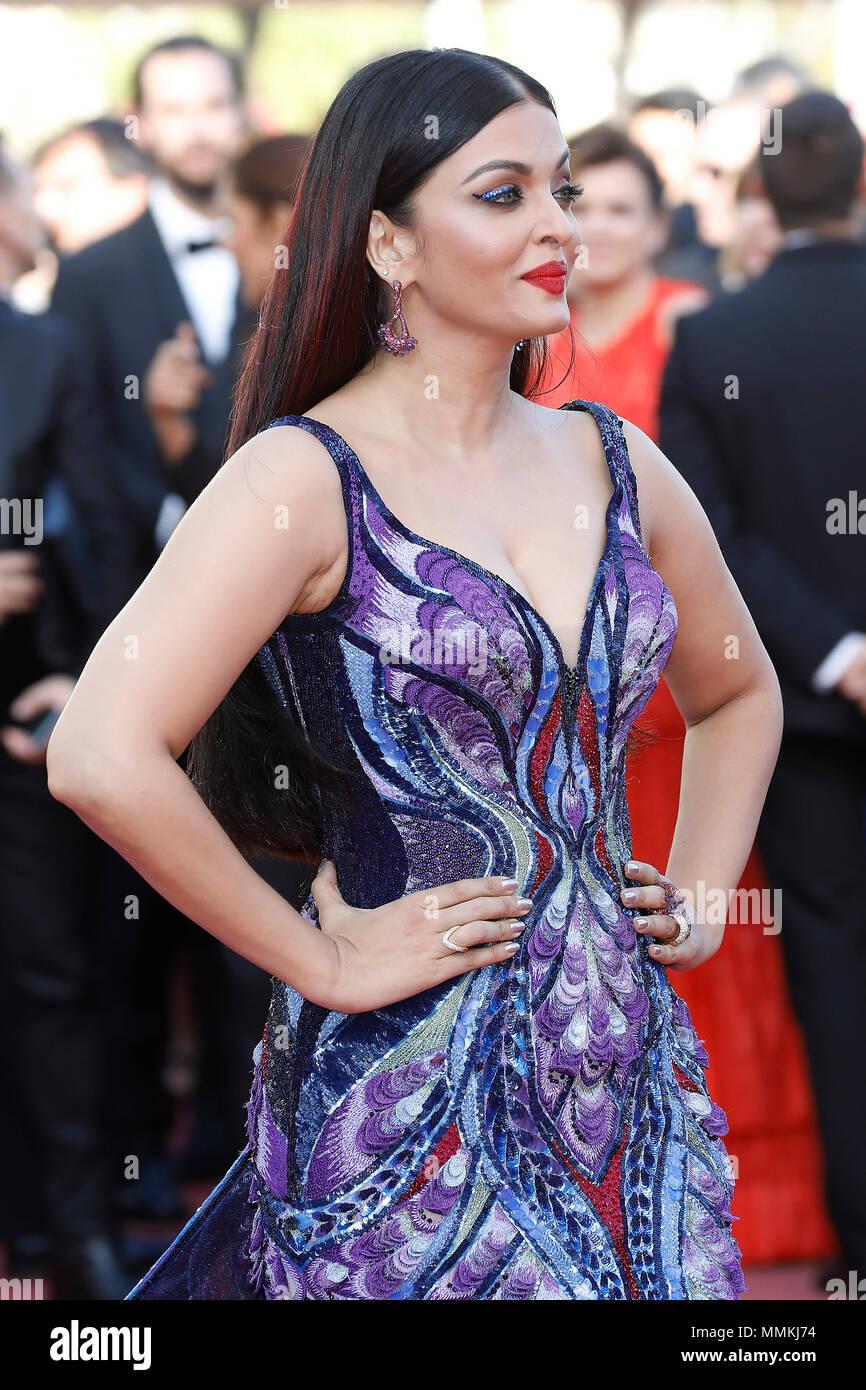 Cannes Frankreich 12 Mai 2018 Aishwarya Rai Im Mädchen Der