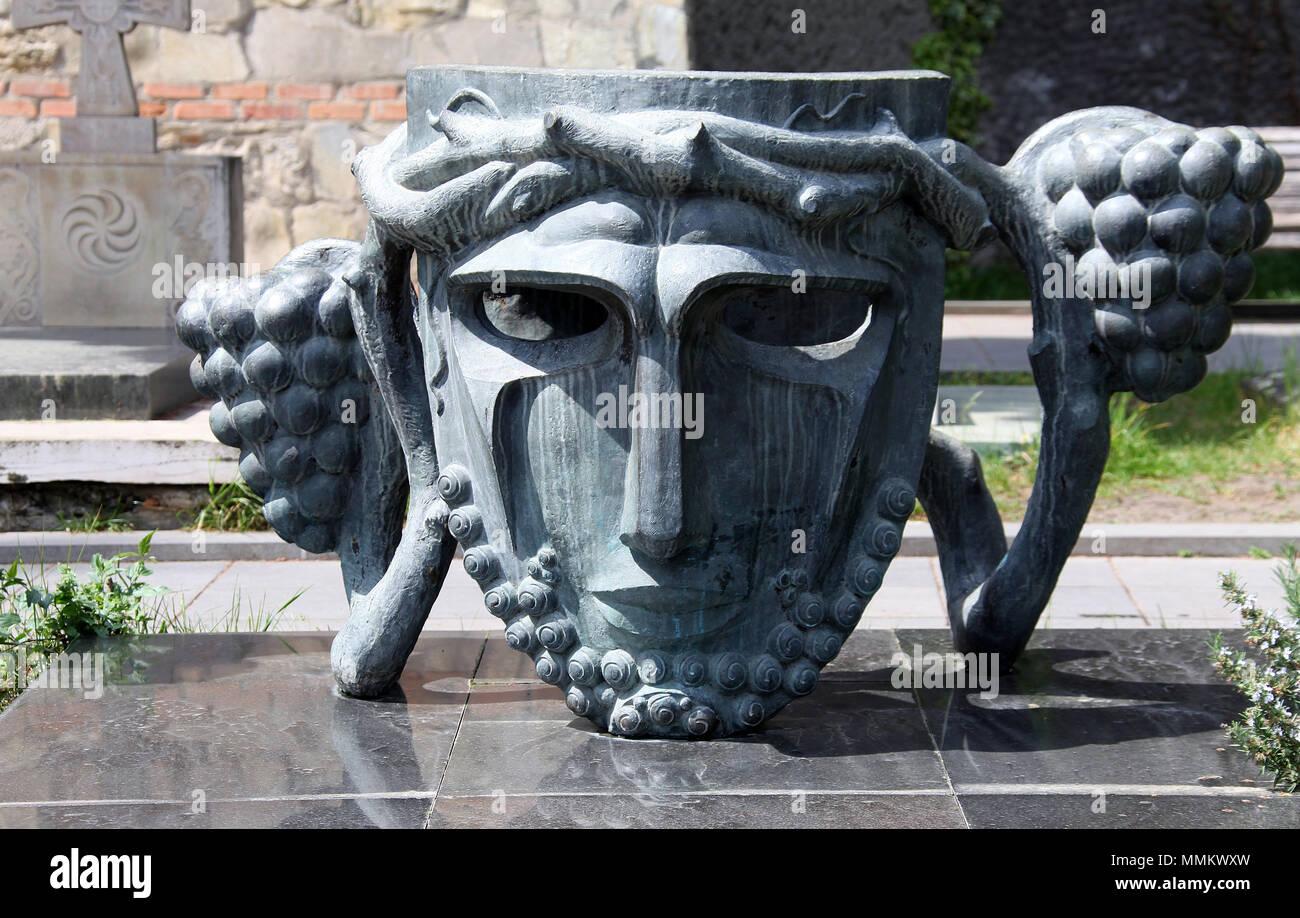 Grab von Sergo Zakariadze in Mtatsminda Pantheon von Autoren und Persönlichkeiten des öffentlichen Lebens in Tiflis Stockbild