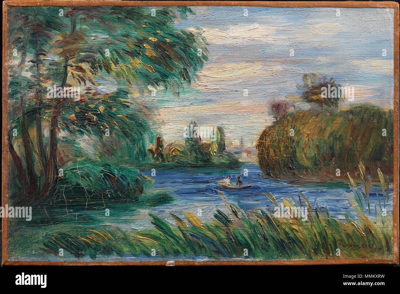 Englisch: Pierre Auguste Renoir, Französisch, 1841 - 1919 Fluss ...