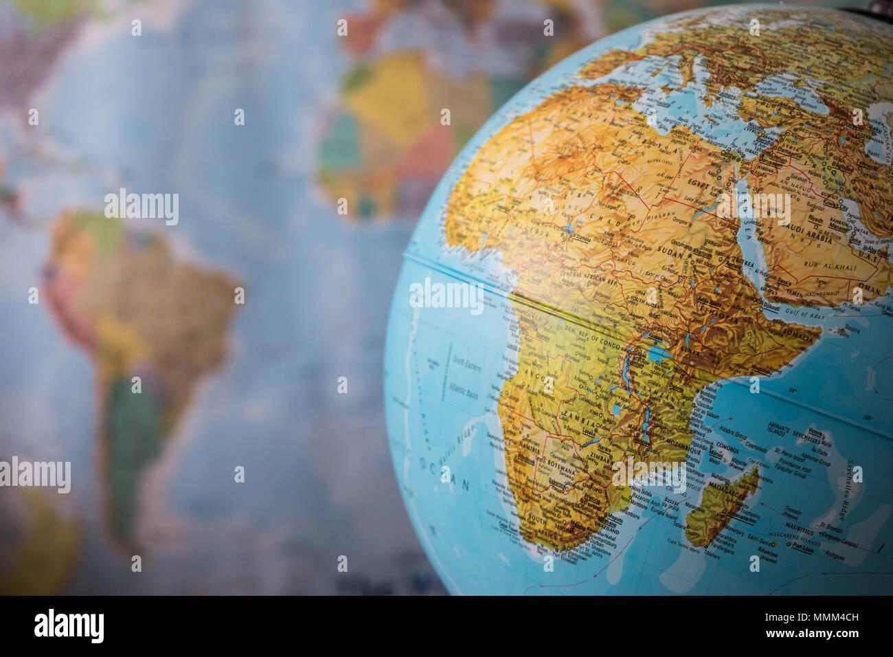 Karte Erde.Afrika Und Naher Osten Karte Auf Einem Globus Mit Erde Karte Im