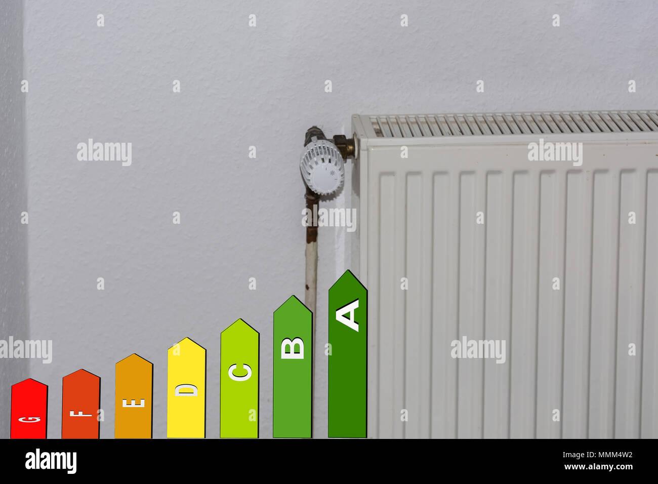 Konzept Temperatur Heizung über Smartphone Mit