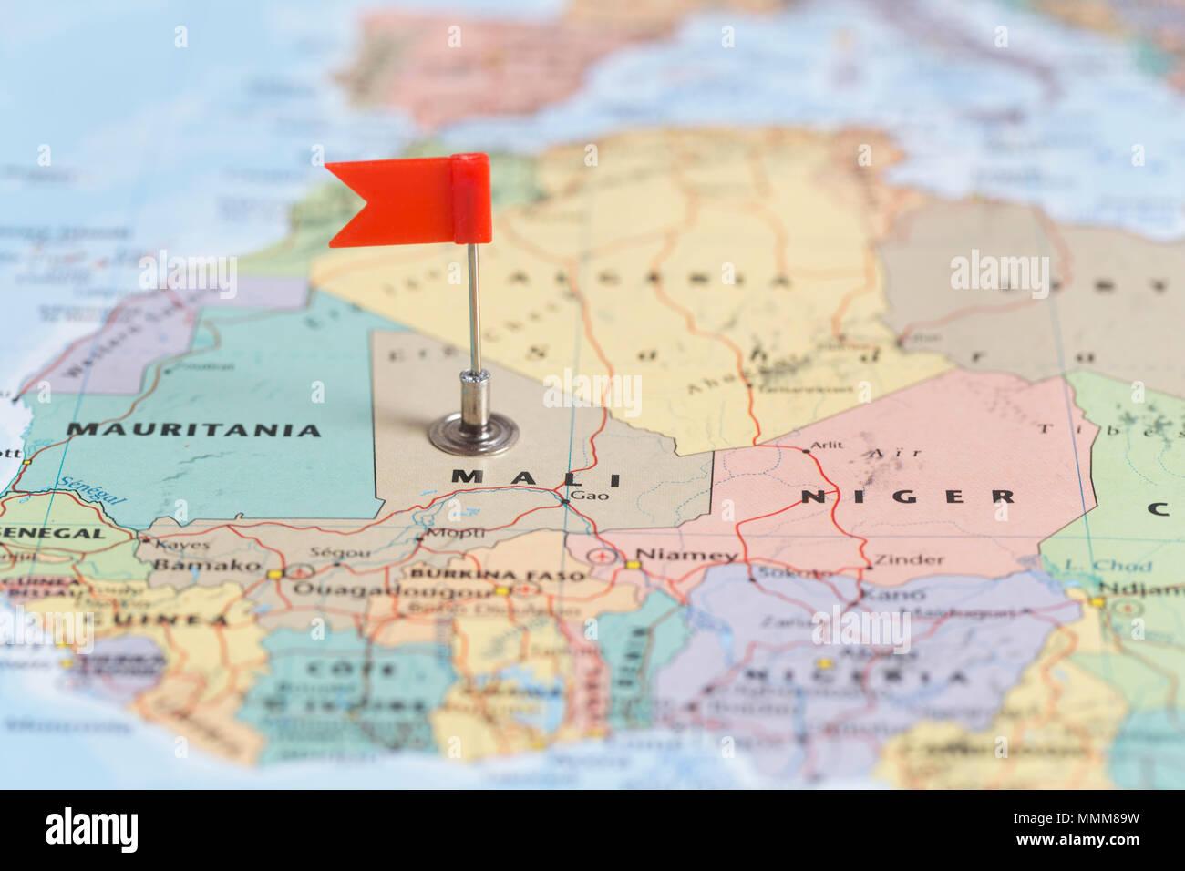 Map Mali Stockfotos & Map Mali Bilder - Alamy
