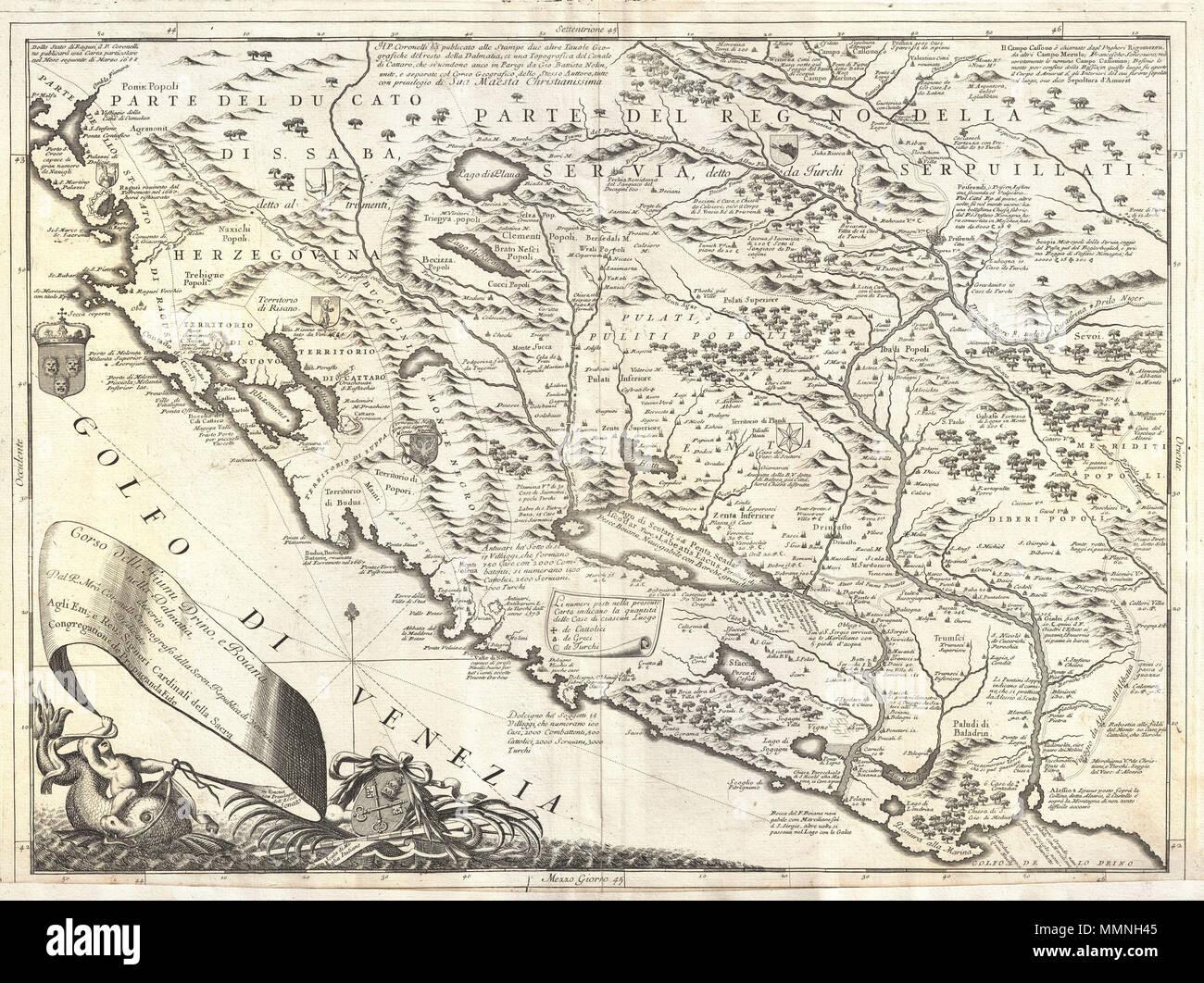 Karte Montenegro Kroatien.Englisch Dies Ist Vincenzo Maria Coronelli Ist 1690 Karte