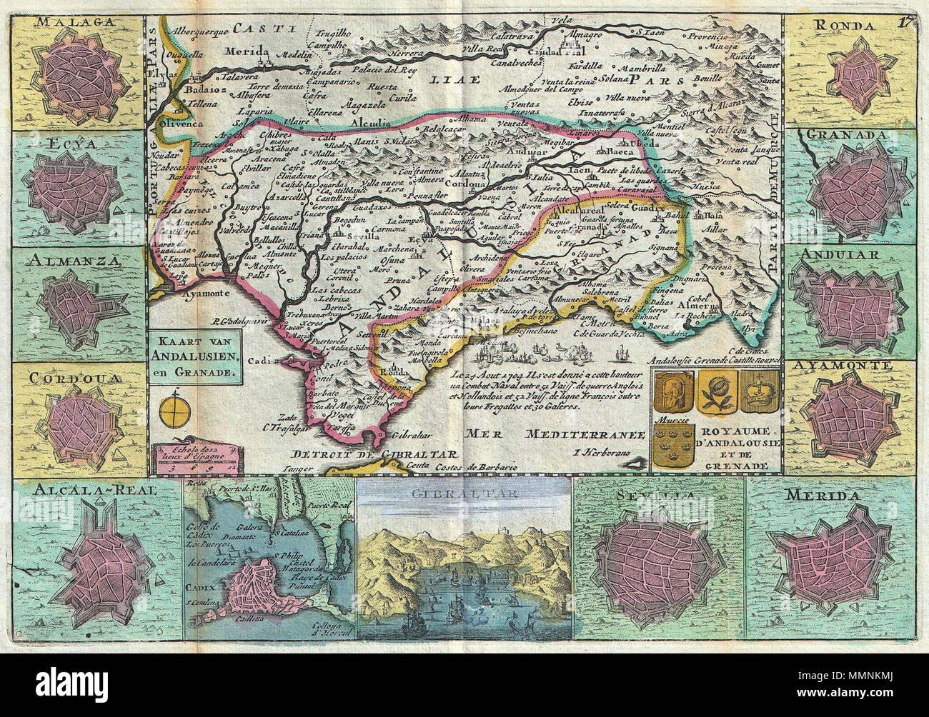Karte Andalusien Cadiz.Englisch Eine Atemberaubende Karte Von Andalusien Und Grenada