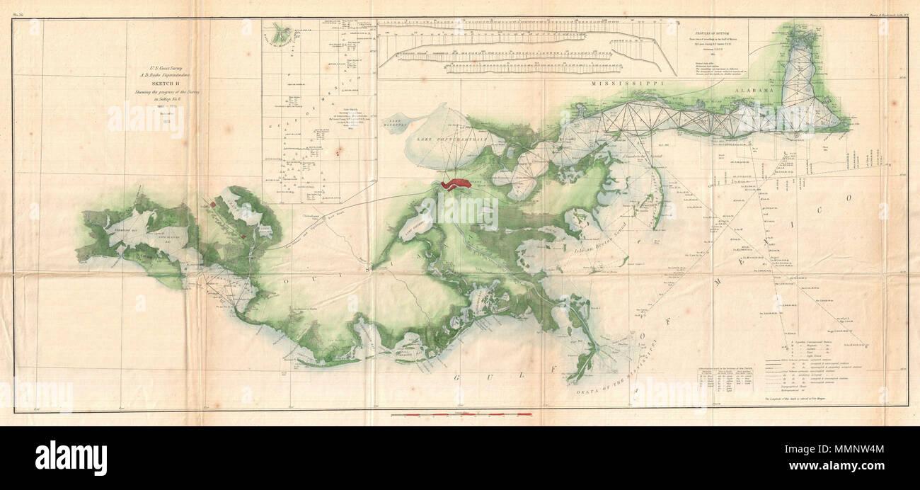 Trier Karte Umgebung.Englisch Eine 1855 Us Küstenwache Nautische Karte Oder Karte Des