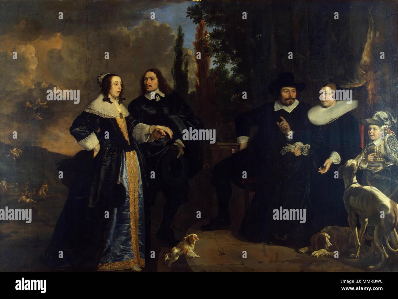 . Dieses Objekt ist in RKDimages, Datenbank der Niederländischen Institut für Kunstgeschichte indiziert, unter der Referenz 42891. ?e?tina | Deutsch | Français | ?????????? | Nederlands | + / - Porträt einer Familie. 1647 (Ca. 1652). Emanuel de Witte - Porträt einer Familie - WGA 11343 Stockbild