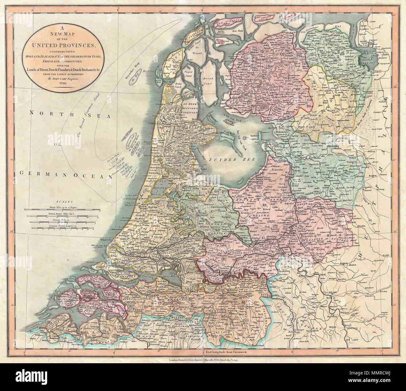 Zeeland Holland Karte.Englisch Ein Ausserst Attraktives Beispiel Fur John Cary S