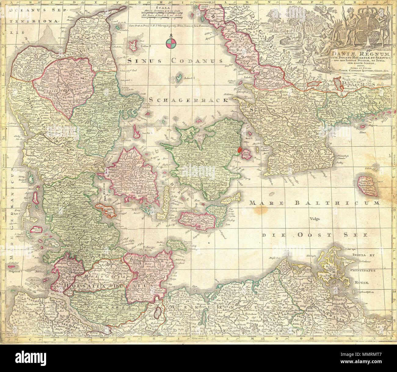 Karte Schweden Dänemark Deutschland.Englisch Das Ist Ein Spektakuläres Und 1770 Lotter Karte Des