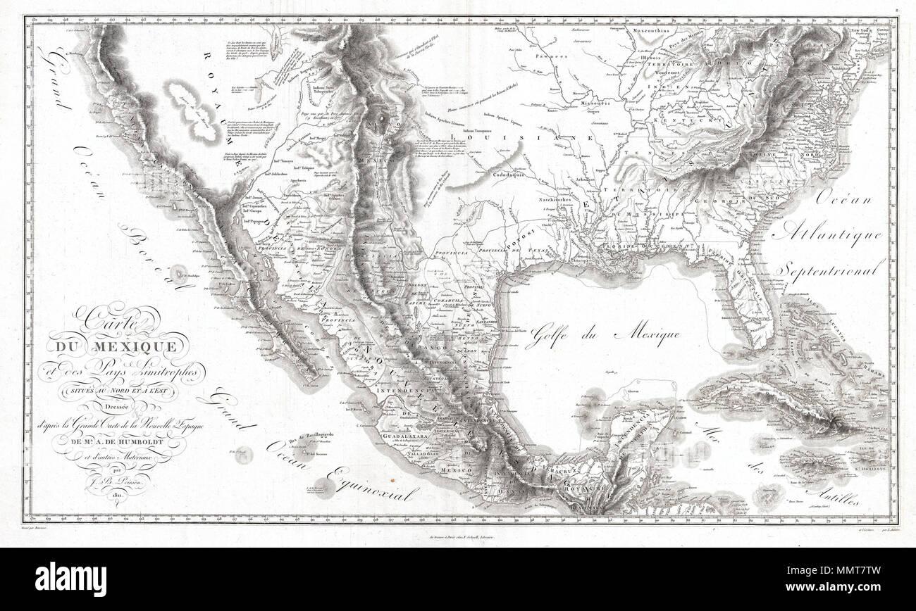 Mexiko Karte Welt.Englisch Eine Zukunftstrachtige 1811 Karte Der Spanischen