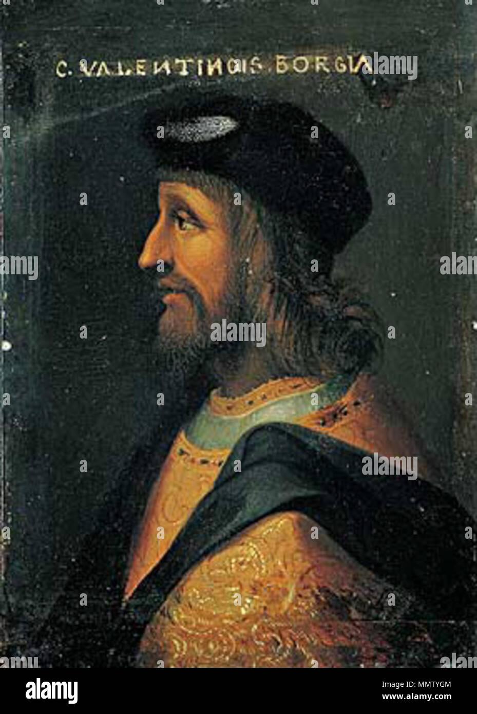 Cesare Borgia. 16-18 Jahrhundert. anonumous Cesare Borgia Palazzo Ruspoli  Stockfotografie - Alamy