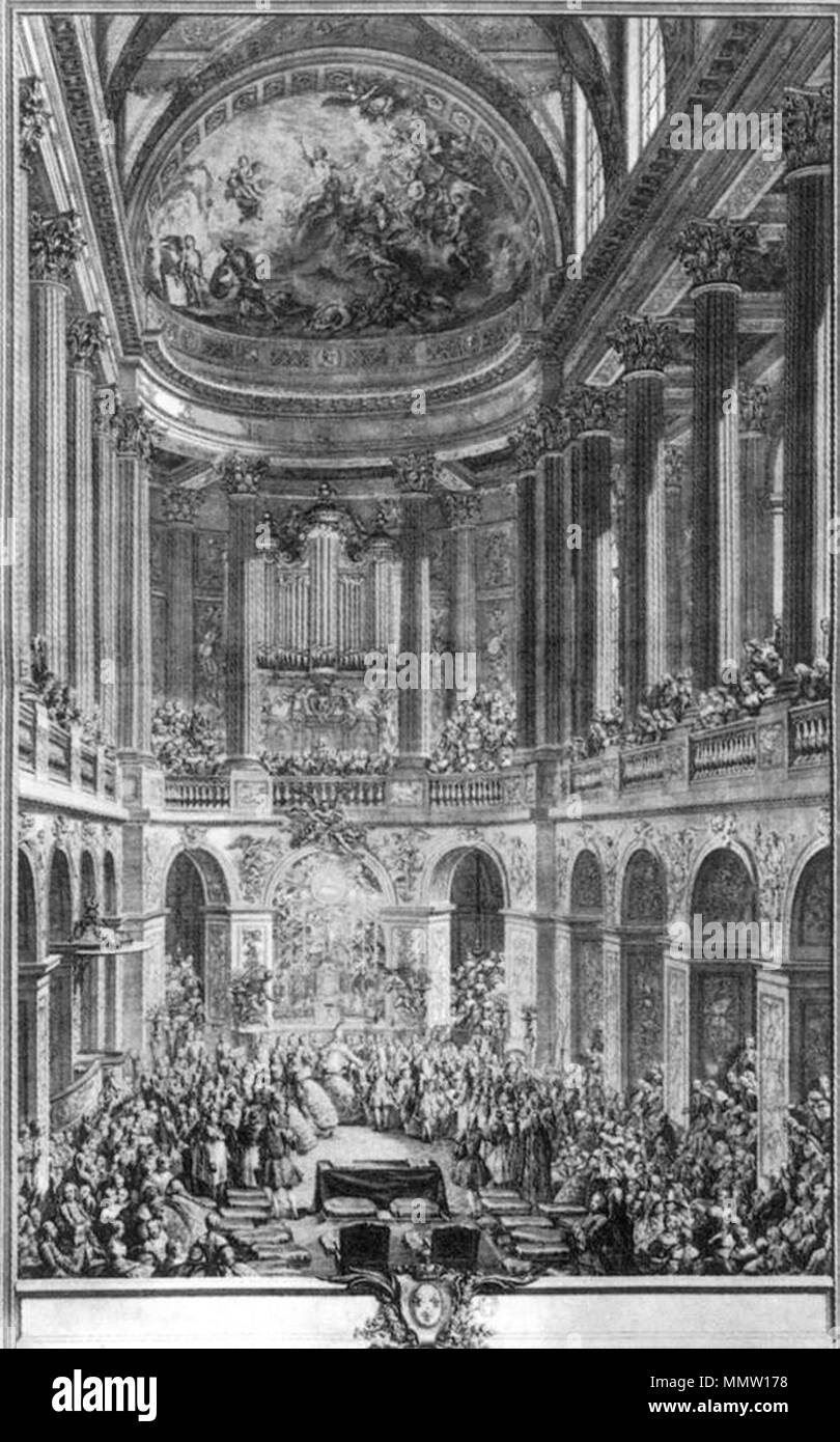 Englisch Des Dauphin Trauung 1745 Charles Nicolas Cochin Ii